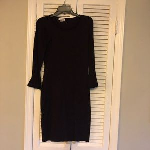 Deep eggplant  bell sleeve dress